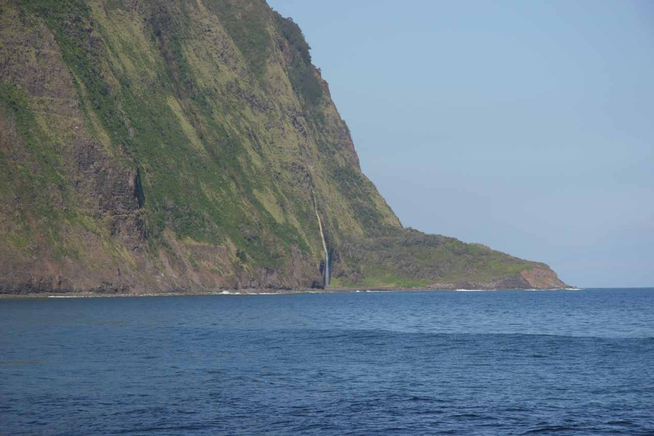 I noticed this tall, thin waterfall which I didn't notice before across Waipi'o Bay