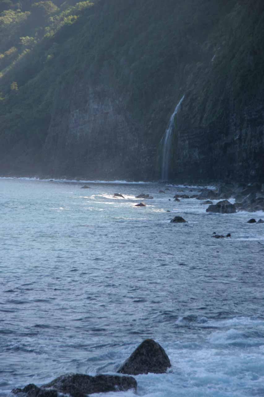 Back at a familiar view of Waiulili Falls