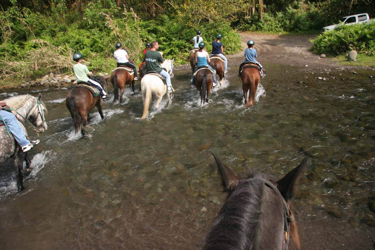 Another pretty deep stream crossing on horseback
