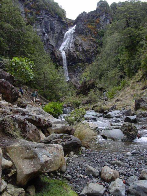Waitonga_Falls_028_11162004 - Context of some people scrambling further upstream to get closer to the base of Waitonga Falls