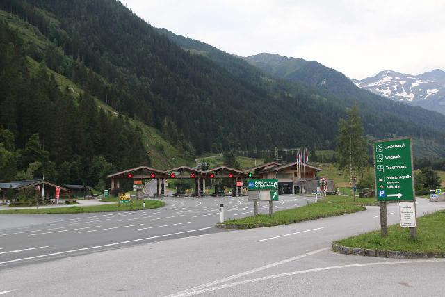 Walcher_Waterfall_001_07132018 - Looking towards the Grossglockner High Alpine Road toll station at Ferleiten while walking towards the Walcher Waterfall