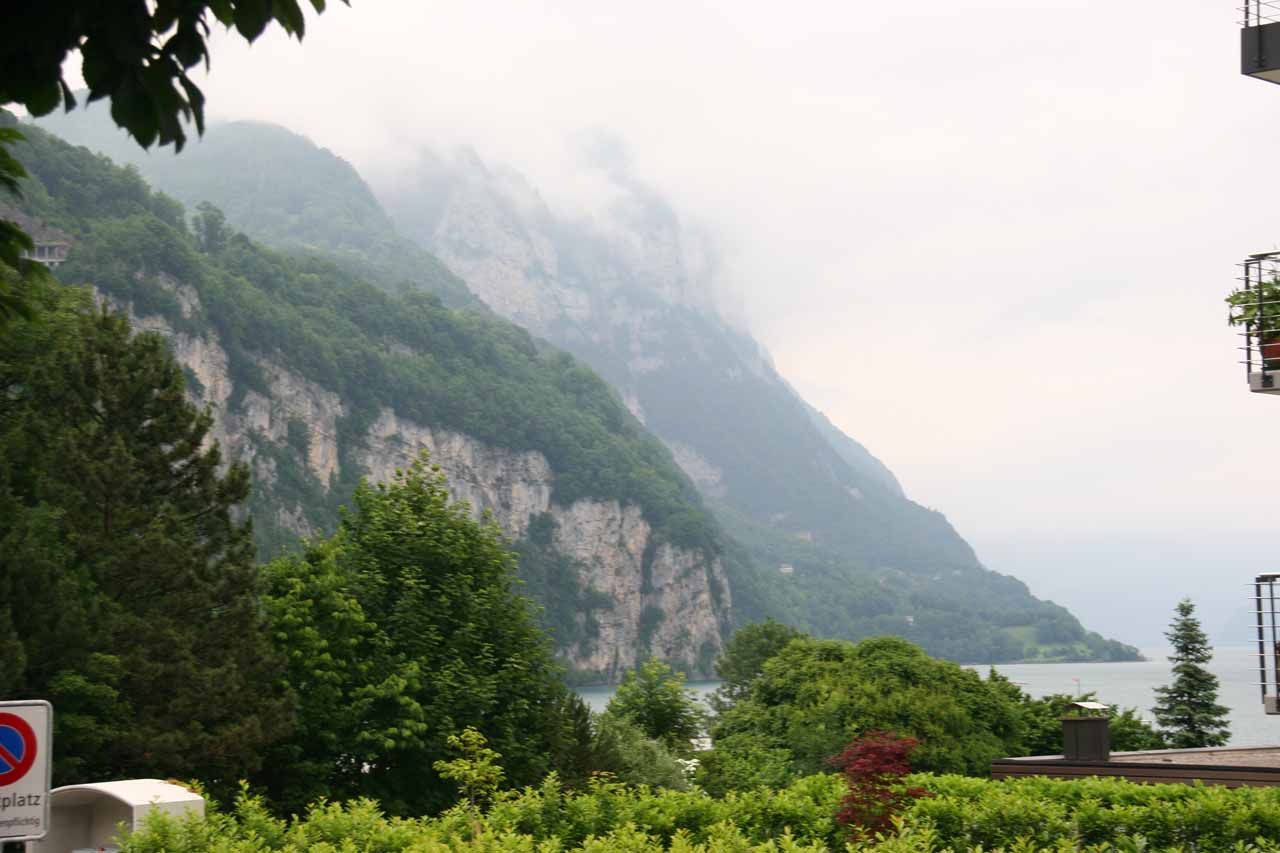 View of Lake Walen (Walensee) as we had just gotten off the bus