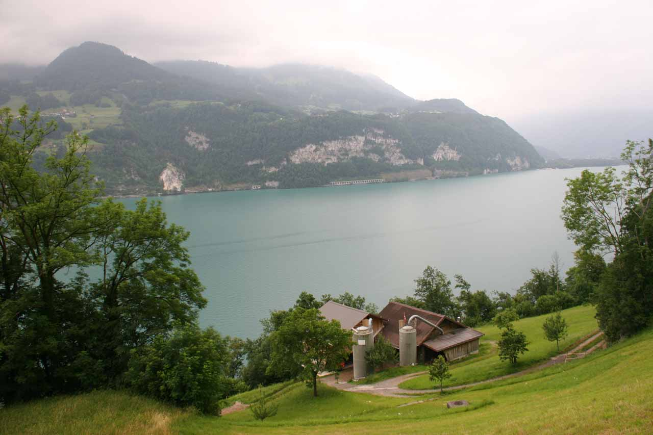 View of Walensee from near the falls