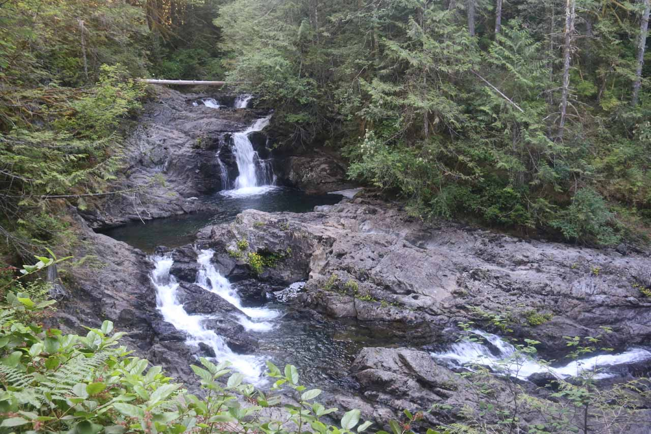 These were the first two or three drops of the Lower Wallace Falls