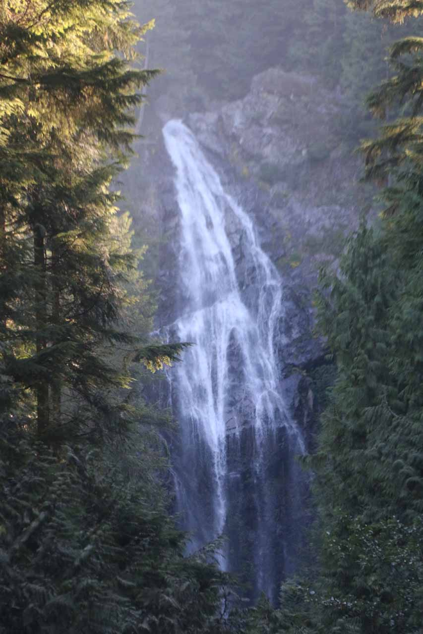 The impressive Middle Wallace Falls could be seen in the distance from above the uppermost drops of the Lower Wallace Falls