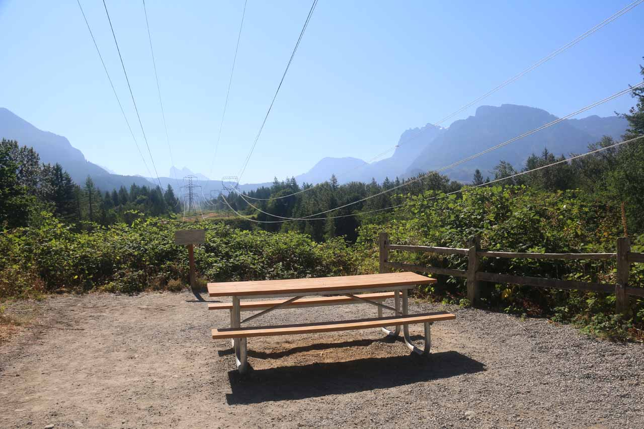 This was the scenic view and picnic area beneath the power lines towards the end of this clear cut stretch