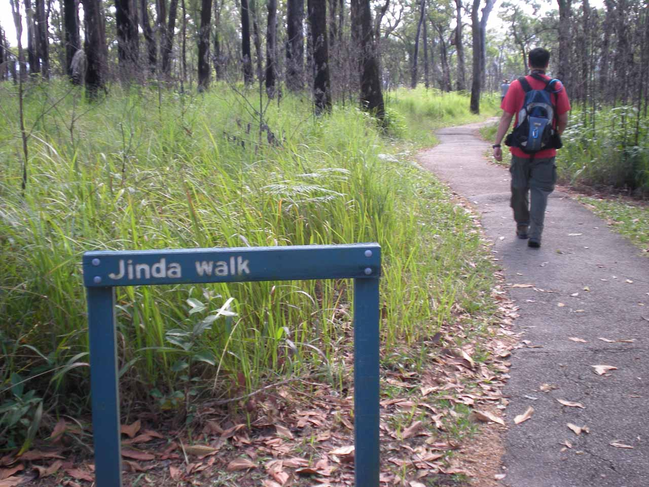 That's me going past the Jinda Walk sign