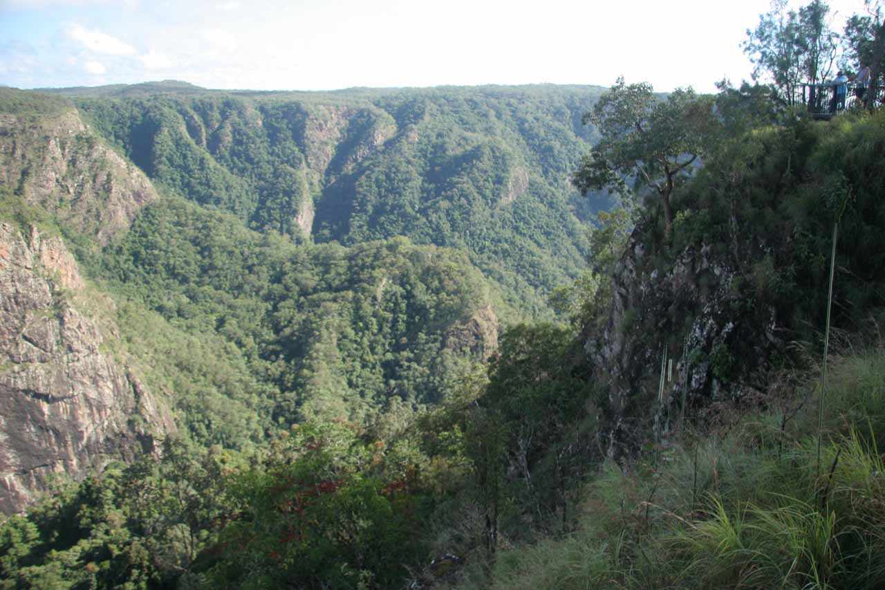 Looking towards the gorge caused by Stony Creek before making our descent to the base of Wallaman Falls