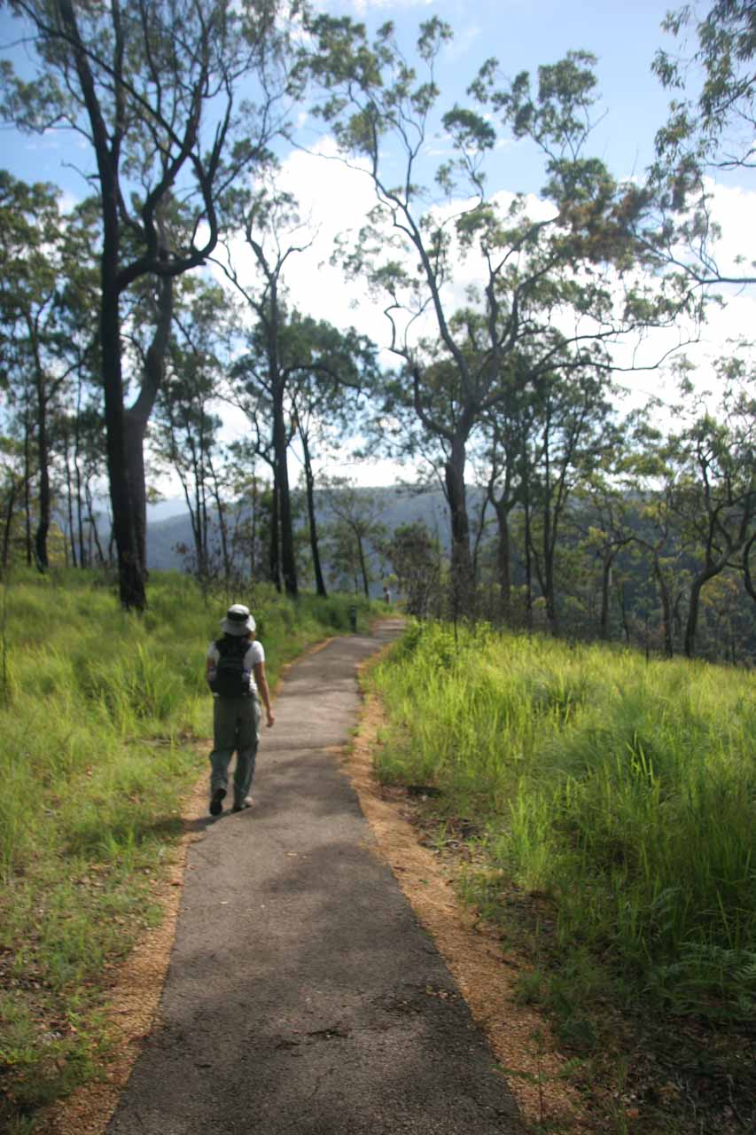 Julie on the track to Wallaman Falls