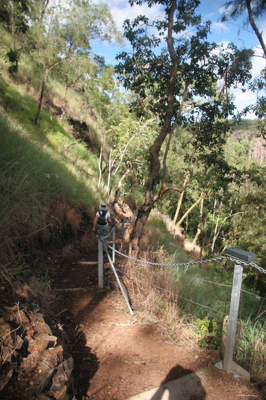 Julie going further down the track to Wallaman Falls