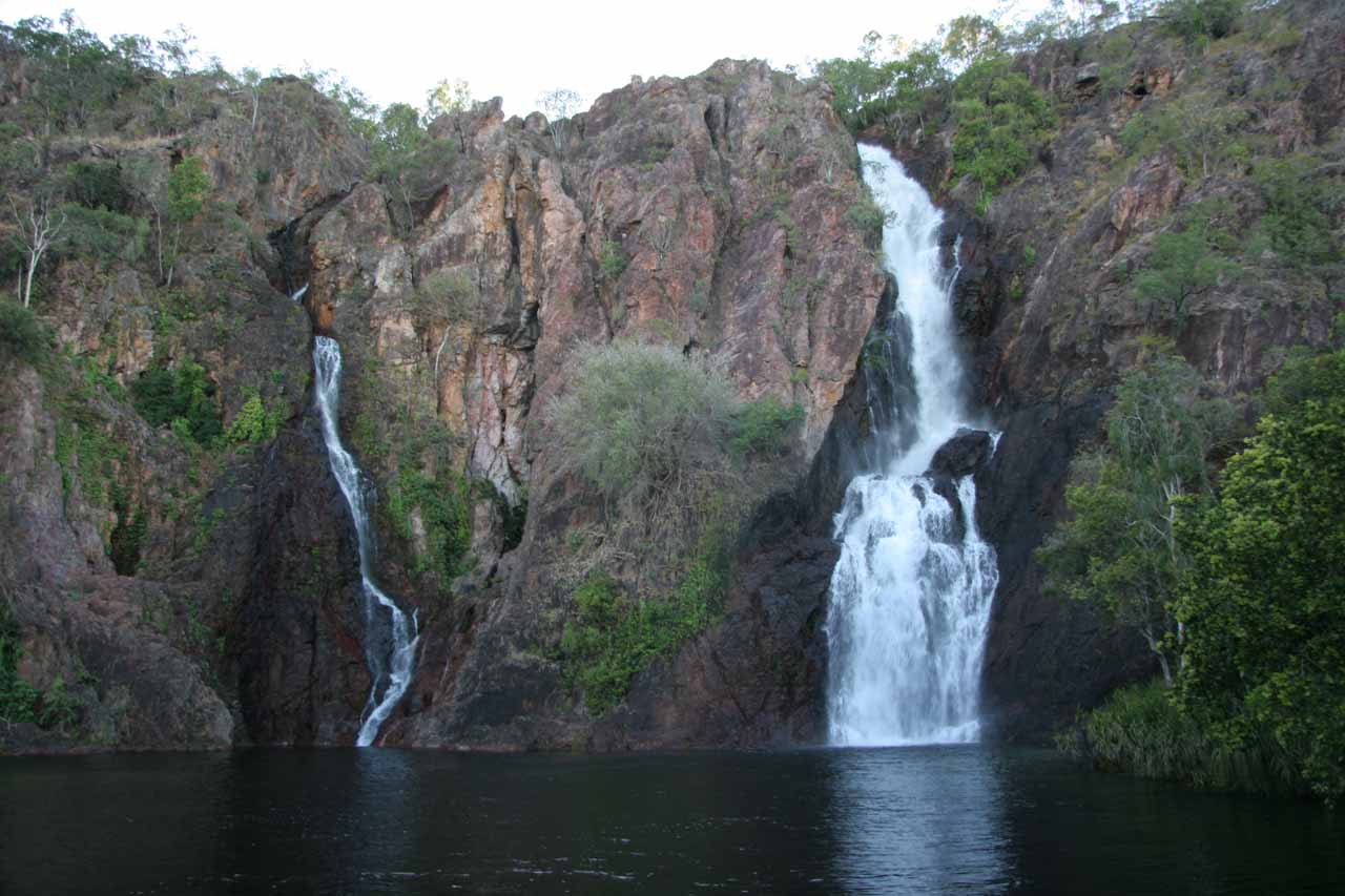 Our first look at Wangi Falls from the official viewing deck