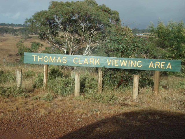 Wannon_Falls_002_jx_11142006 - Sign at the car park for the Thomas Clark Viewing AreaWannon Falls