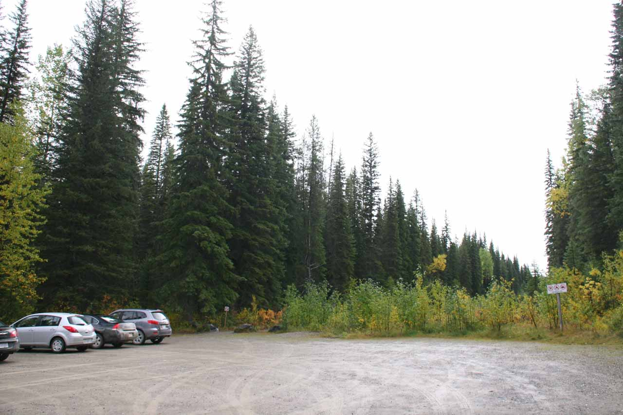 Car park and trailhead