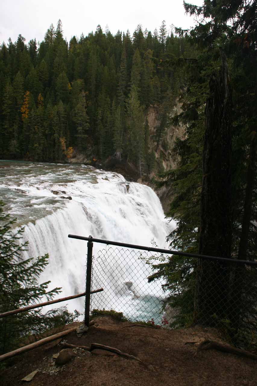 Back at one of the fenced overlooks revealing Wapta Falls
