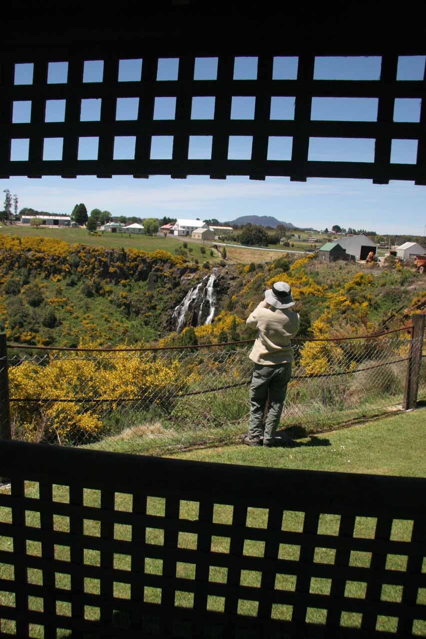 Watching Julie checking out Waratah Falls