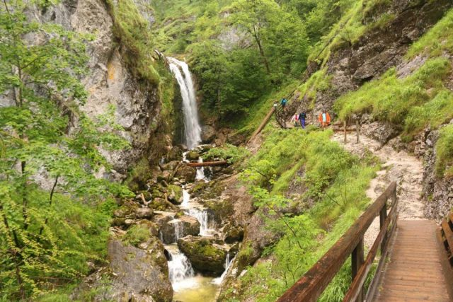 Wasserlochklamm_044_07062018 - Approaching the first signed waterfall within the Wasserlochklamm Gorge