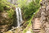 Wasserlochklamm_051_07062018 - Continuing the ascent along the Wasserlochklamm as I went past the sign identifying the first of the Wasserlochklamm Waterfalls