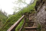 Wasserlochklamm_100_07062018 - Going up the steep climb alongside the Schleierfall in the Wasserlochklamm
