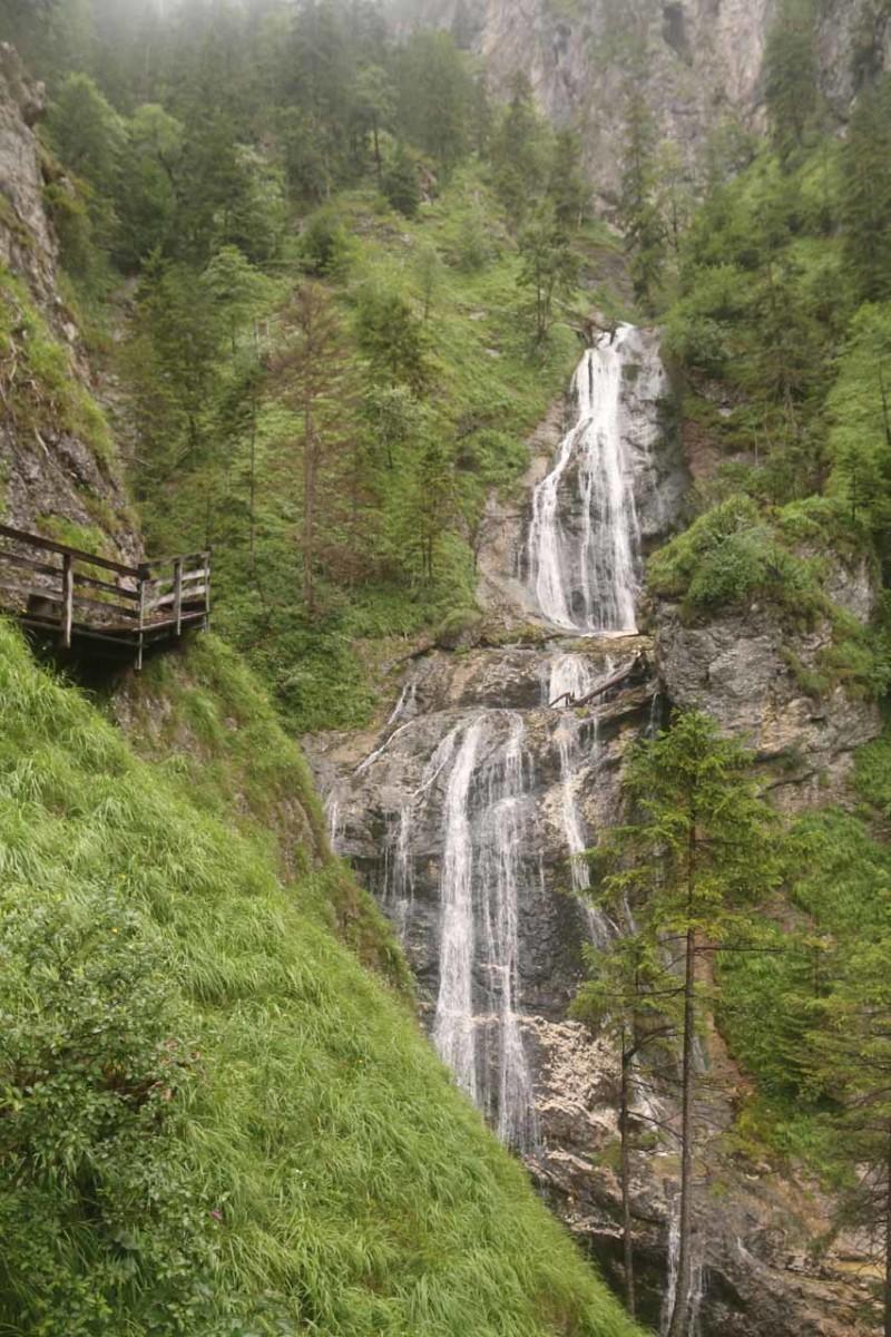 One of many waterfalls in the Wasserlochklamm Gorge