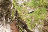 Wasserlochklamm_118_07062018 - Continuing along the Wasserlochklamm Trail skirting around a gully before climbing alongside the upper drops of the Schleierfall