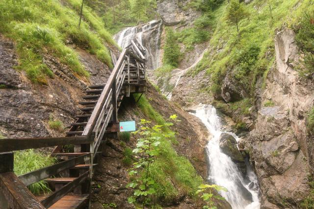 Wasserlochklamm_223_07062018 - The Wasserlochklamm Trail climbing alongside the third Wasserlochklamm Waterfall en route to the base of the Schleierfall