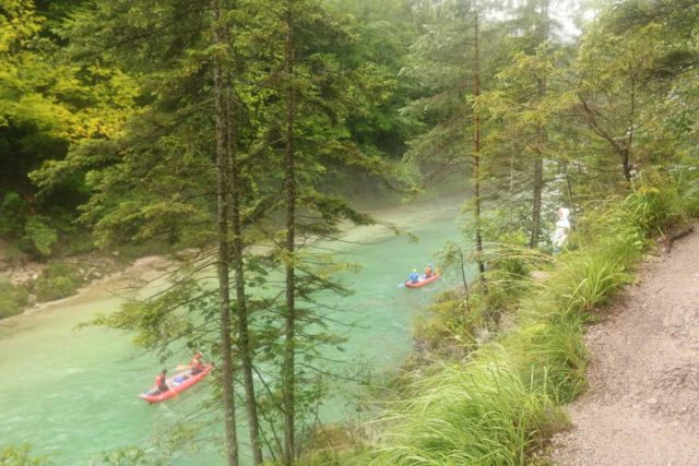 Wasserlochklamm_265_07062018 - Beyond the turnstile, I followed a trail that paralleled the Salza River en route to the mouth of the Wasserlochklamm Gorge while rafters were joyriding on the colorful river itself