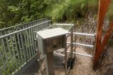 Wasserlochklamm_270_07062018 - The automated turnstile at the other end of the suspension bridge marking the start of the hike to the Wasserlochklamm
