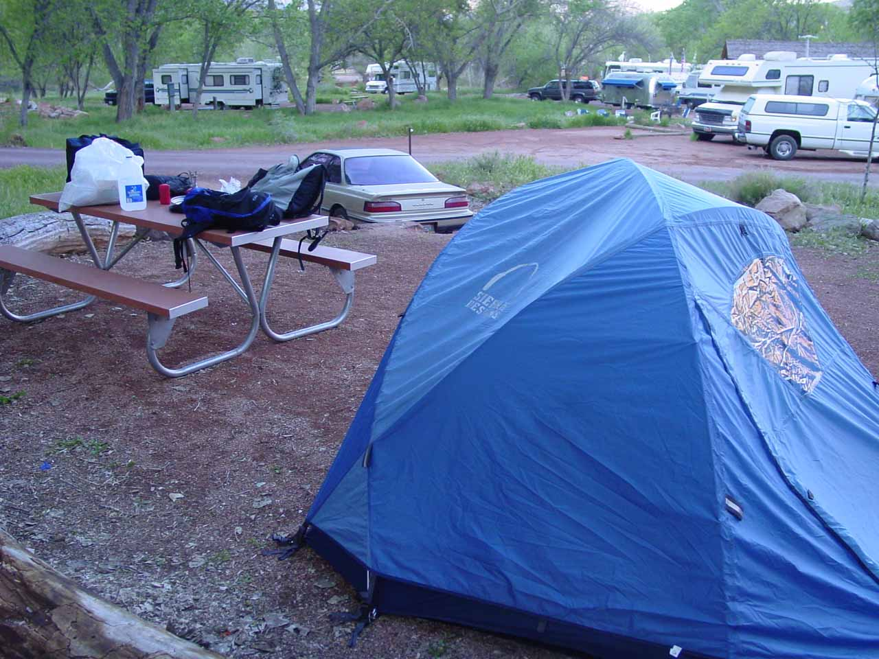 Morning at the Watchman Campground
