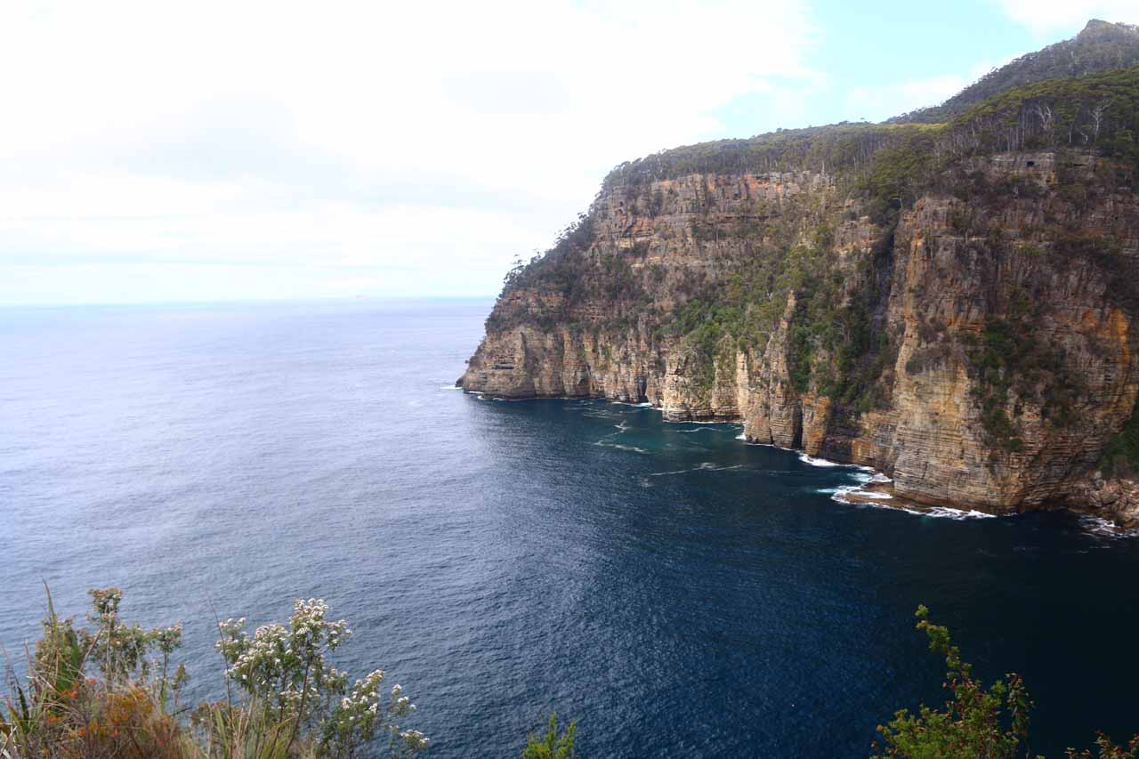 This was the view of Waterfall Bay from that lookout nearest to the car park