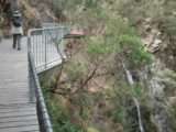 Waterfall_Gully_029_jx_11202006 - Contextual view of Julie walking above the First Falls towards the Second Falls on our November 2006 visit