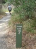 Waterfall_Gully_031_jx_11202006 - Sign telling us how far away the Second Falls was after having passed the First Falls in the Waterfall Gully back in November 2006