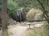 Waterfall_Gully_032_jx_11202006 - Back in November 2006, this lookout before the Second Falls had this bench and nothing else. In November 2017, the bench was gone but they put a circular barricade with an opening towards a short informal path leading right to the base of the falls
