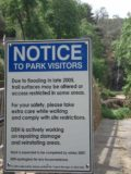 Waterfall_Gully_042_jx_11202006 - Sign talking about flood damage that actually took place in late 2005, which was amazing considering that most of Australia was in a severe drought in 2006 when we made our visit