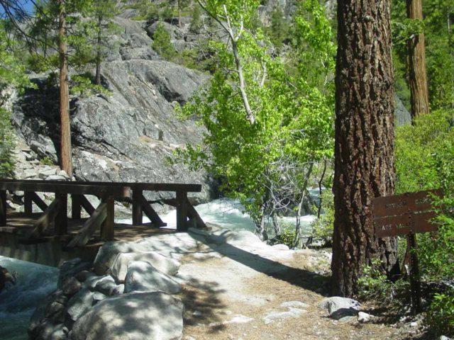 Waterwheel_Falls_042_06052004 - Approaching the bridge over Return Creek further downstream of Waterwheel Falls