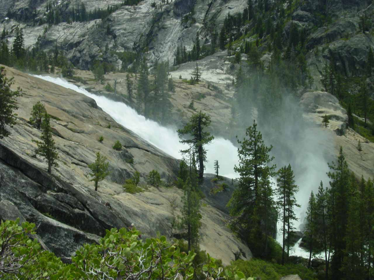 Profile view of Waterwheel Falls