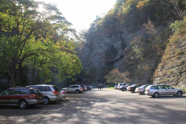 Watkins_Glen_003_10152013 - The Watkins Glen State Park parking lot at the lower end of Watkins Glen