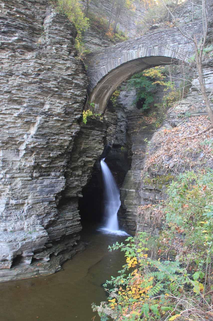 The hidden cascade beneath the Sentry Bridge