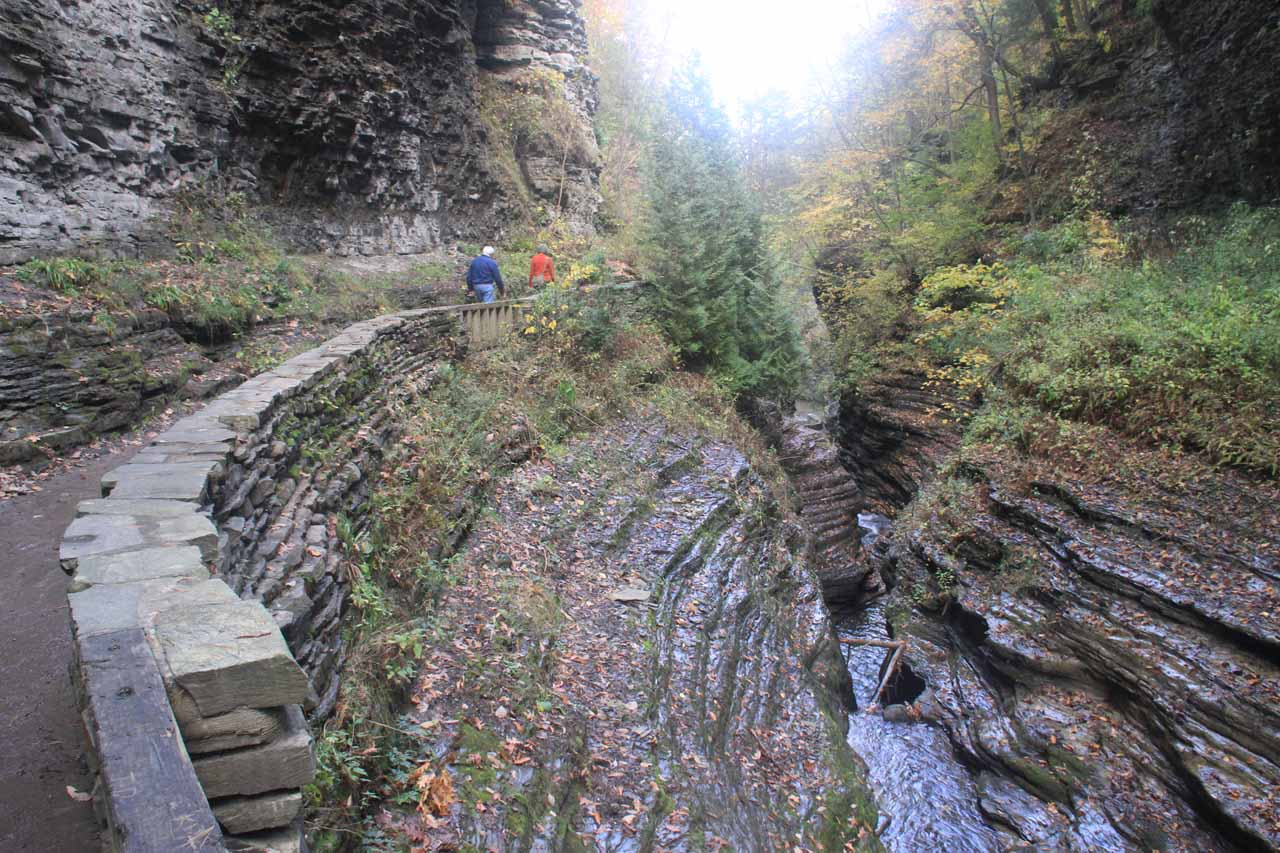 Looking downstream over the Cavern Cascade at the gorge below