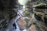 Watkins_Glen_214_10152013 - Looking downstream from the bridge above Rainbow Falls