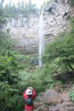 Watson_Falls_019_08212009 - Julie taking photos of Watson Falls as we went higher up the trail in August 2009