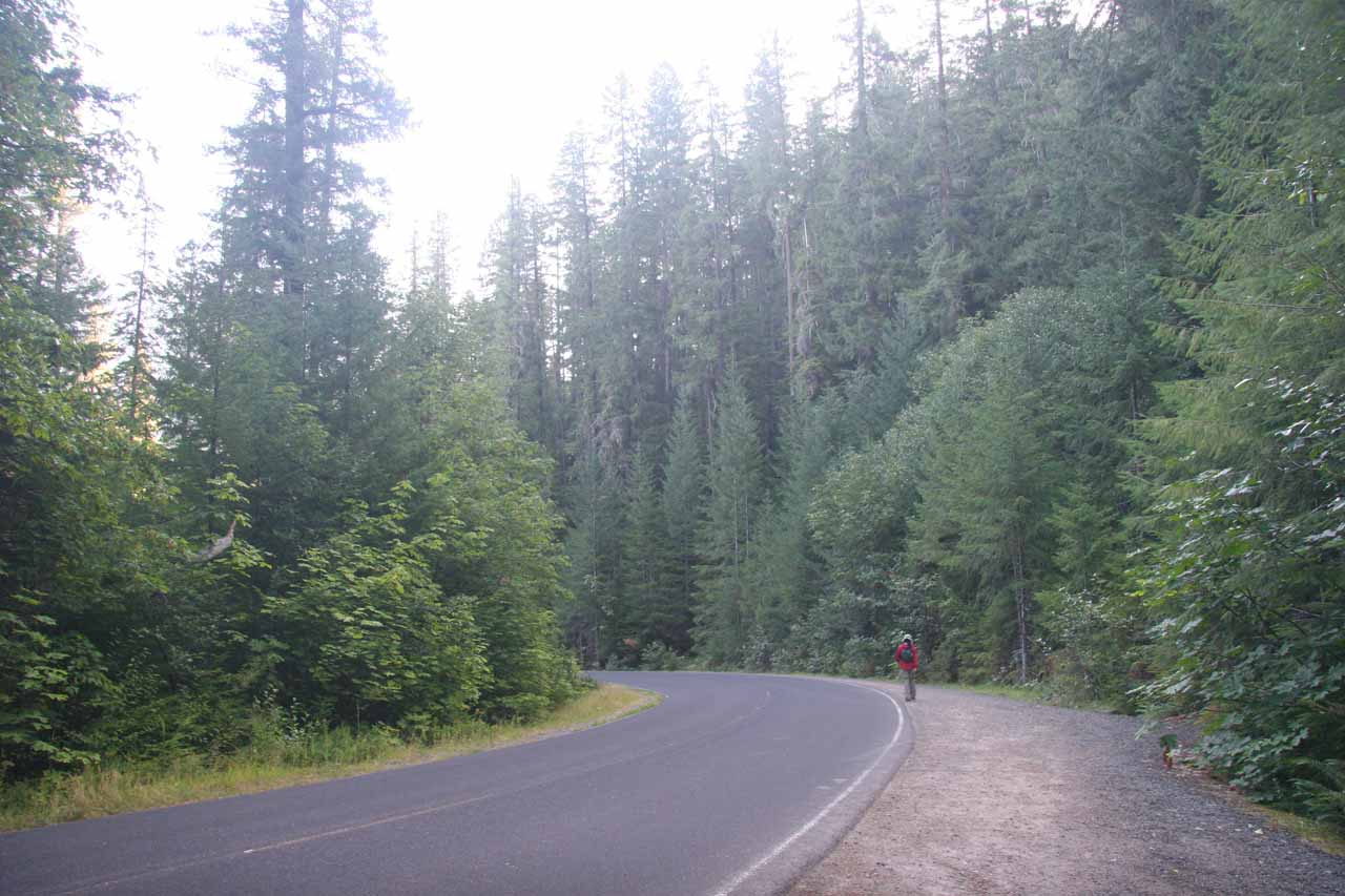 Returning to the Watson Falls trailhead