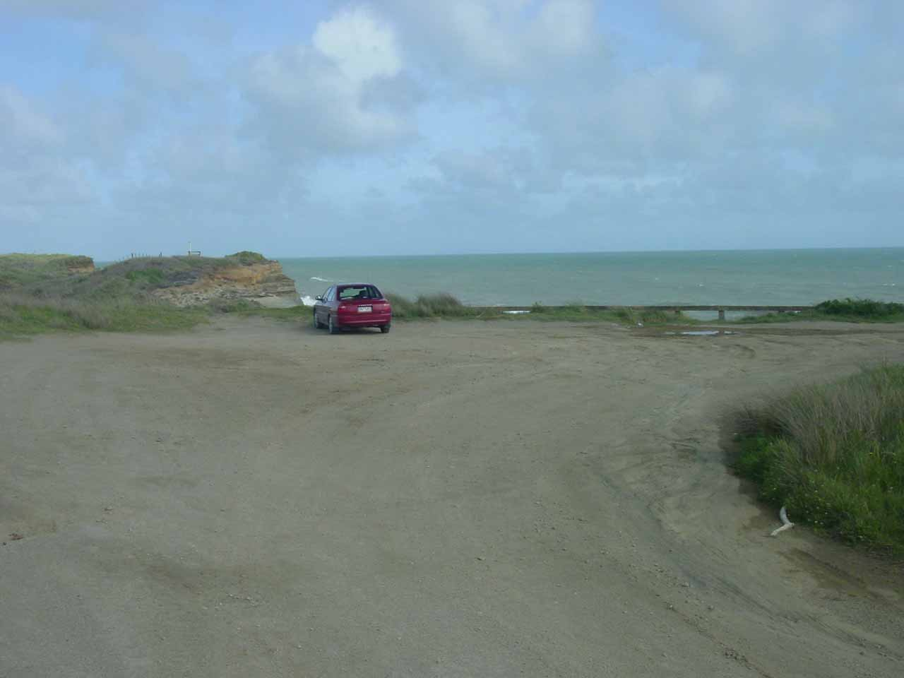 Our car parked at Waverley Beach