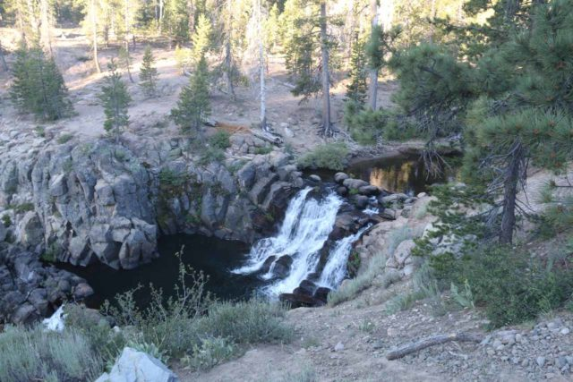 Webber_Falls_011_07122016 - Looking down at the upper drop of Webber Falls