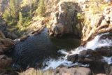 Webber_Falls_047_07122016 - Looking down over the brink of the upper drop of Webber Falls towards its plunge pool below as well as the brink of the unseen lower drop