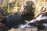 Webber_Falls_047_07122016 - Looking over the top tier of Webber Falls towards its unseen lower drop