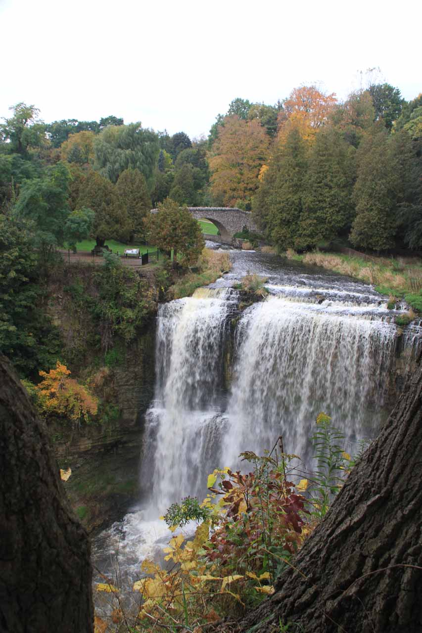 The issue with the Dobson-McKee Lookout was that we never were able to get a clean look at Webster's Falls