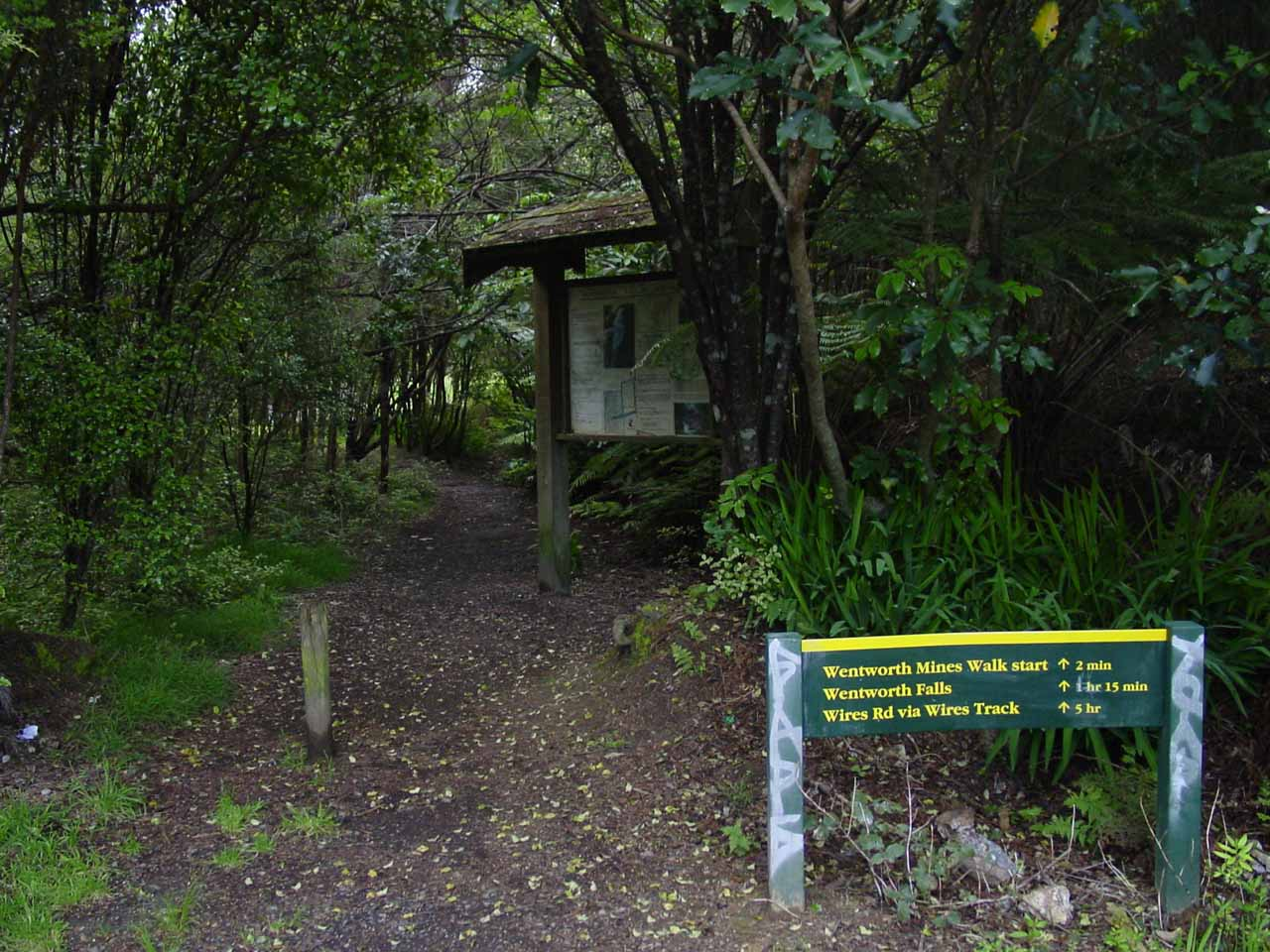 Signage at the trailhead for Wentworth Falls