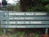 Wentworth_Falls_002_jx_11052006 - This was the sign we saw as we got to the end of the Falls Rd