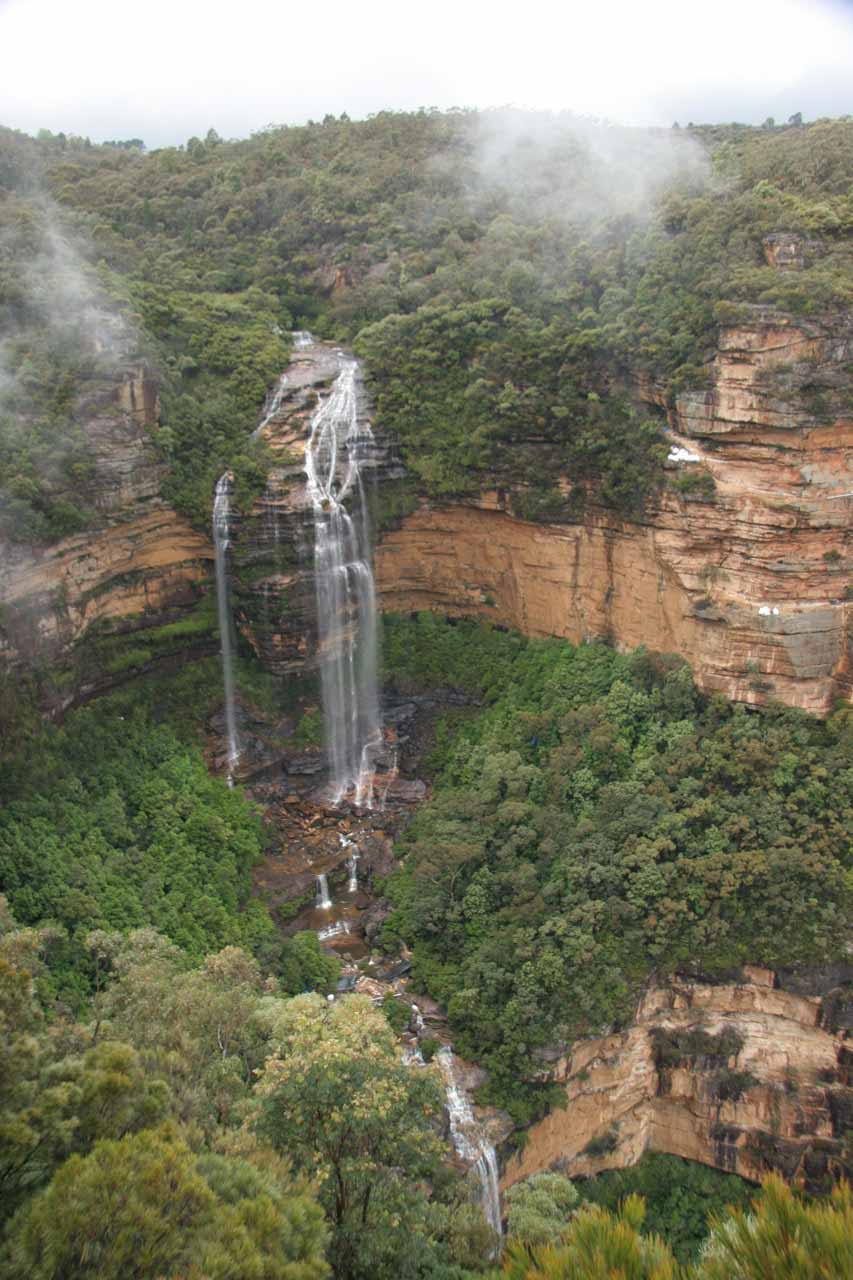 Finally, a nice view of Wentworth Falls (or at least the upper tier of it)