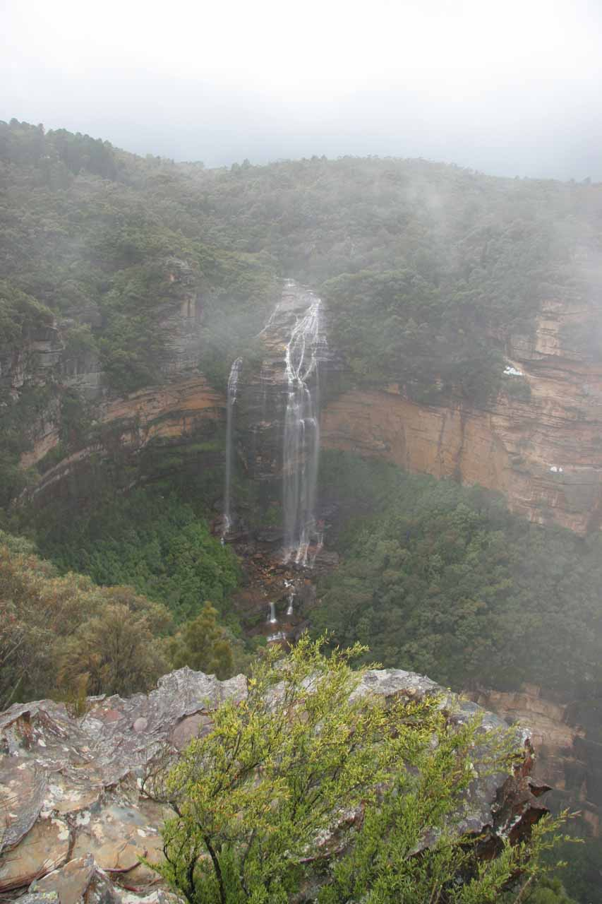 Wentworth Falls starting to get shrouded by clouds again